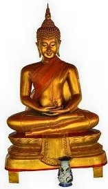 Buddha in full lotus 'floats'