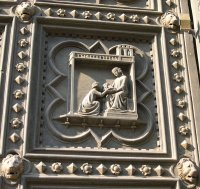 Florence Baptistry door - Salome receives the head of John