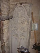 Coffin slab, St John the Baptist church, South South Witham, confirming revised Templecombe automaton head