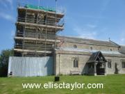 Garsington church tower in a Faraday Cage