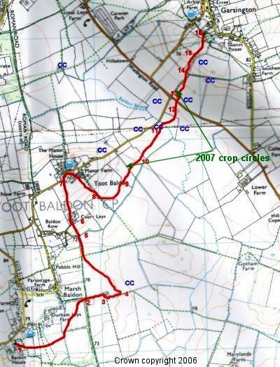 The Michael Line from Marsh Baldon to Garsington, Oxfordshire