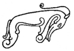 Pictish Beast line drawing, pub dom