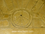Anglo-Saxon sun dial above main entrance to St Peter's