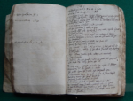 Two pages of Samuel Ward's notebook