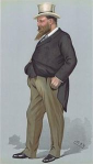 Rothschild caricatured by Spy for Vanity Fair, 1900