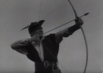 richard greene as robin hood, with longbow