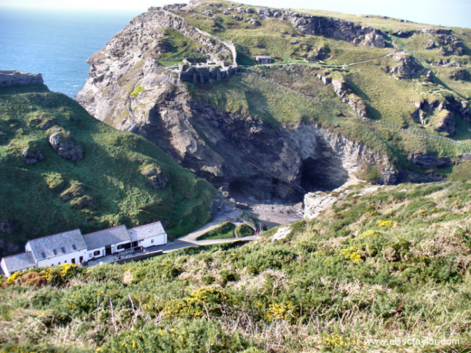 tintagel castle and merlins cave